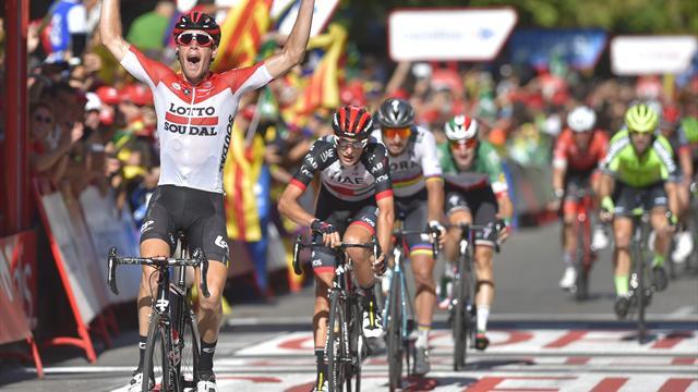 Pour quelques mètres, Wallays a résisté à Sagan et Viviani : l'arrivée de la 18e étape