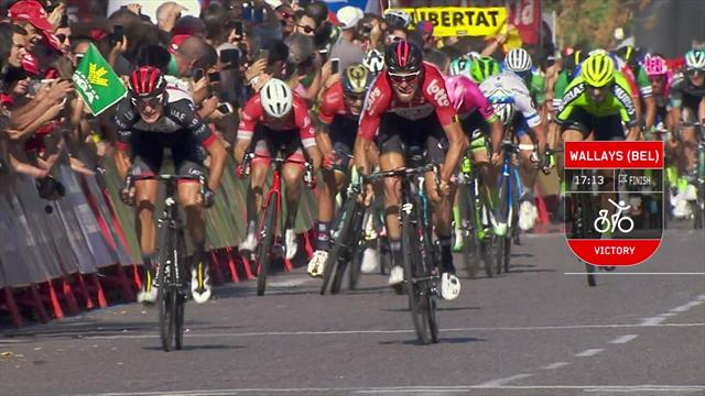 La Vuelta Stage 18 - Key Moments: Wallays denies sprinters as Yates stays in red