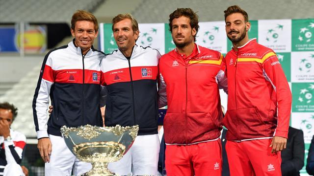 Davis Cup: Spanien ohne Nadal in Frankreich gefordert