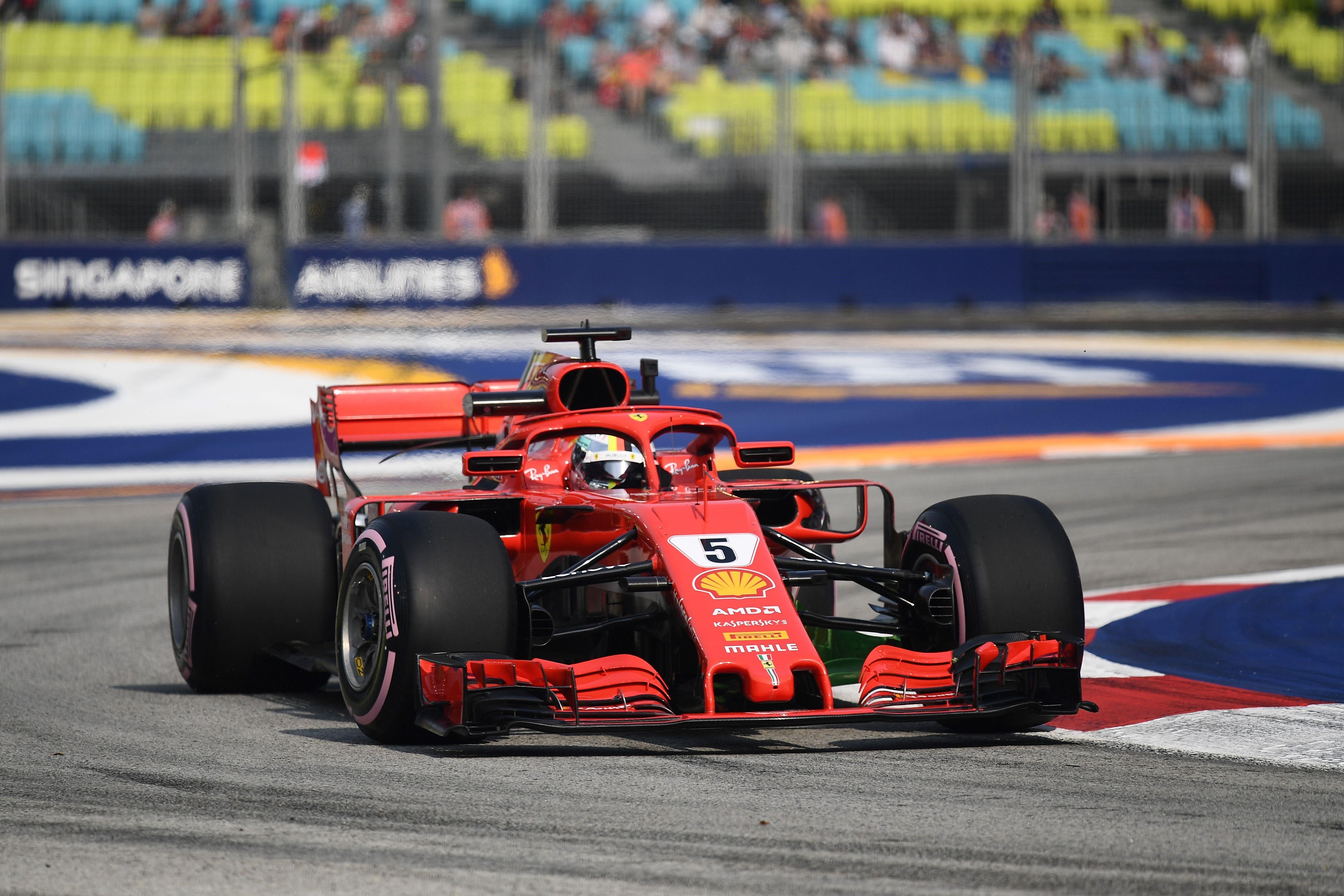 Sebastian Vettel (Ferrari) au Grand Prix de Singapour 2018