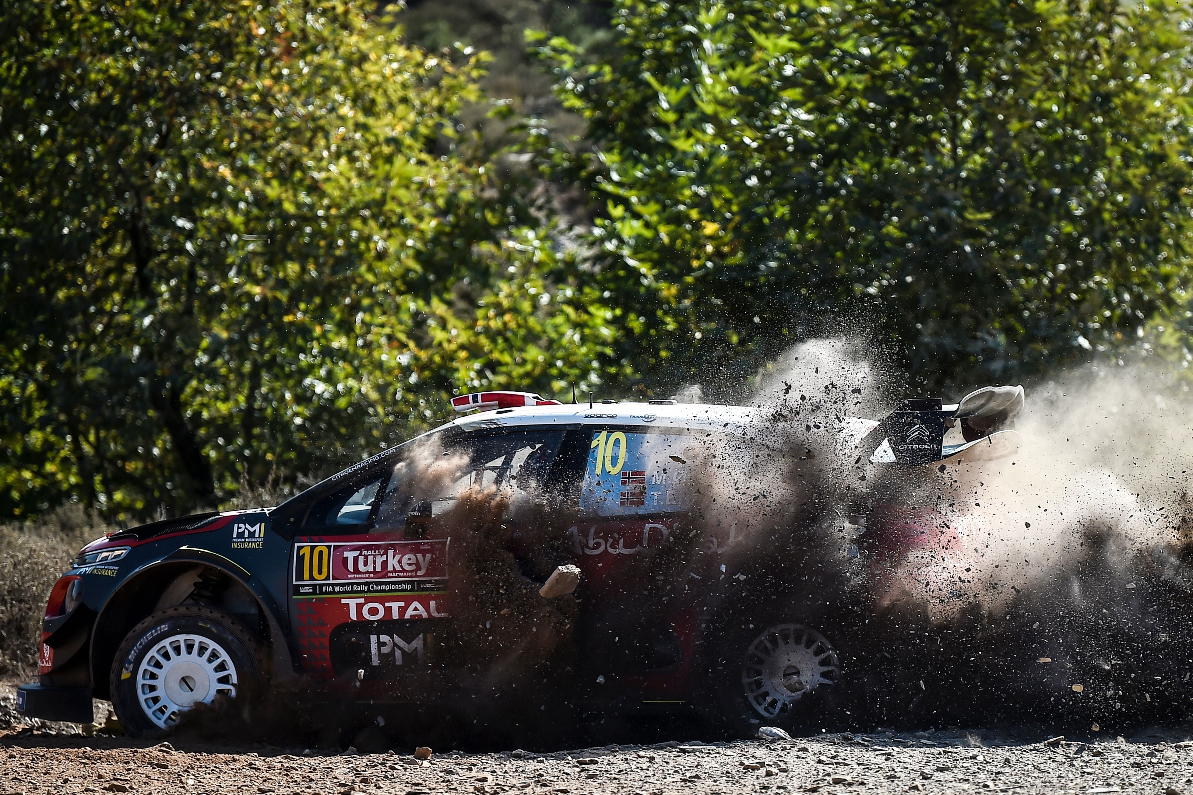 Mads Otsberg (Citroen C3) lors du rallye de Turquie (WRC)