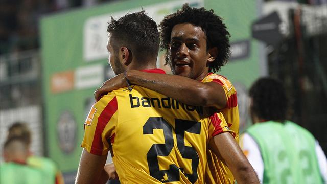 Il Benevento vince a Venezia, ma che fatica! Doppio Bandinelli e Tello, 3-2 al Penzo