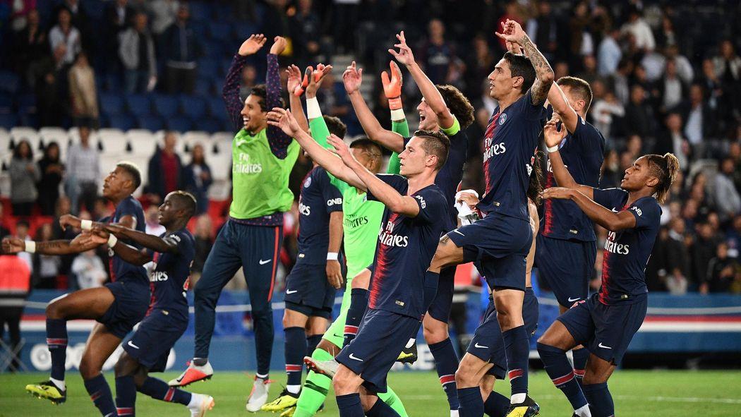 Image result for PSG 2018/2019 celebrating