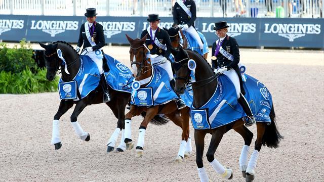 Die deutsche Mannschaft verteidigt den Titel im Grand Prix de Dressage