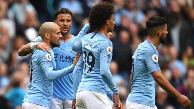 Manchester City a valanga sul Fulham: 3-0 firmato Sané-David Silva-Sterling