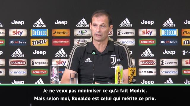 "The Best - Allegri : ""Ronaldo mérite ce prix"""