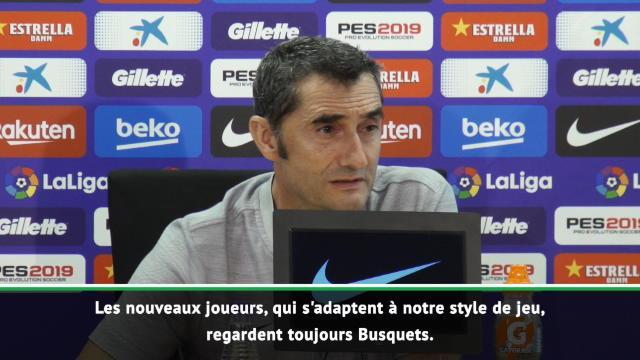 """Barça - Valverde : """"Busquets, un joueur crucial"""""""