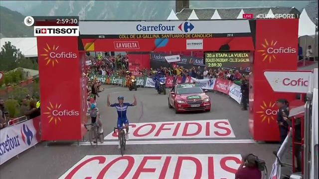 Tutta la gioia di Enric Mas! Tappa e 2° posto nella generale. A Simon Yates la Vuelta