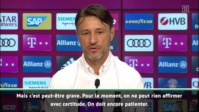 Bayern - Kovac : ''Tolisso, c'est peut-être grave''