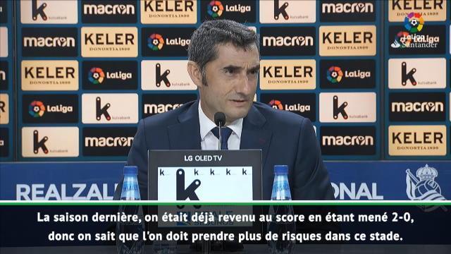 """Barcelone - Valverde : """"On a réussi à renverser le match"""""""