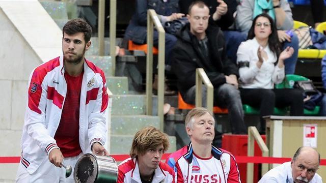 Хачанов стучал по кастрюле в поддержку Медведева во время матча против белорусов