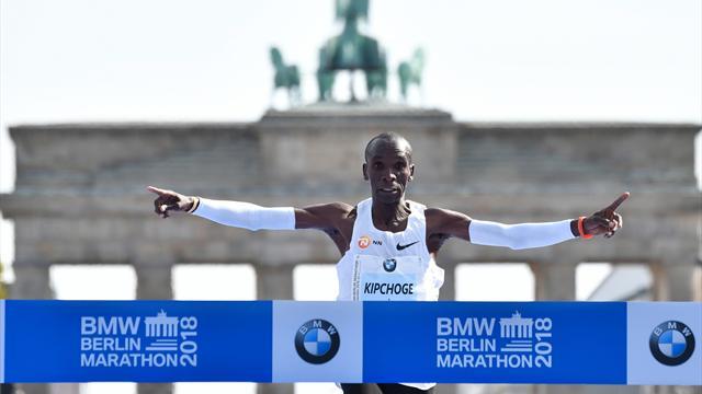 """Das war hart"": Kipchoge knackt Marathon-Weltrekord in Berlin"