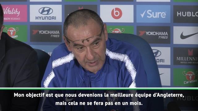 "5e j. - Sarri : ""Devenir la meilleure équipe d'Angleterre"""