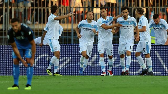 La Lazio trova continuità: 1-0 ad Empoli con brivido finale, decidono Parolo e Strakosha