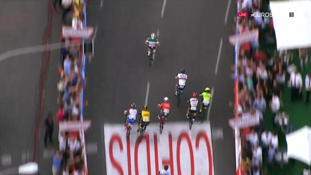 La Vuelta 2018: Brutal remontada de Elia Viviani para dejar a Sagan en blanco