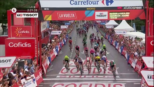Che numero di Elia Viviani! L'azzurro vince a Madrid e cala il tris alla Vuelta