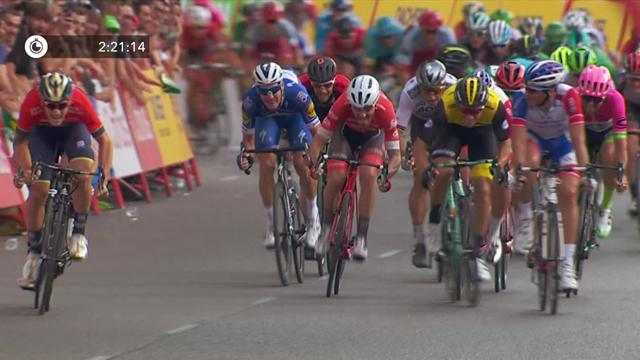 Viviani takes thrilling sprint finish on final Vuelta stage