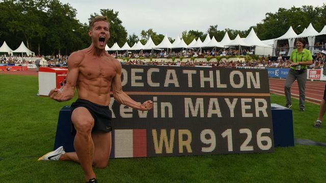 France's Mayer obliterates decathlon world record