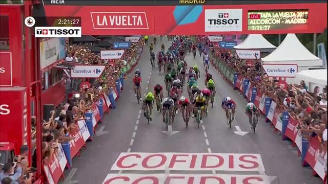 Viviani tar hem sista etappen av Vueltan 2018