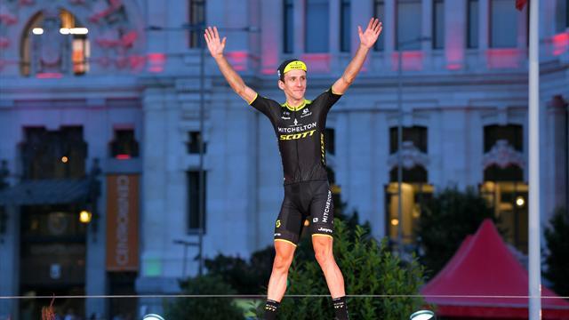 Yates celebrates Vuelta glory on podium in Madrid