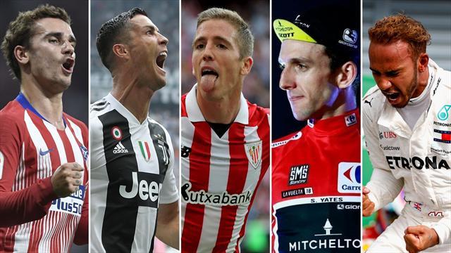 Griezmann, Cristiano, el Athletic, Yates y Hamilton, los nombres del día
