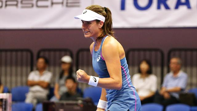 Konta battles past Sasnovich in dramatic tie-break to reach Moscow semi-finals