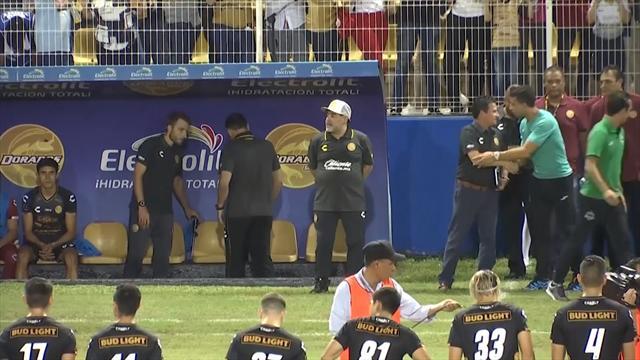 Марадона дебютировал в Мексике, ругался, делал «Ух!» с игроками и сотню раз сказал «Ке» на прессухе