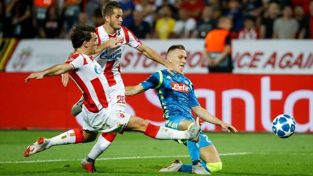 Incapable de marquer, Naples ne prend qu'un point à Belgrade