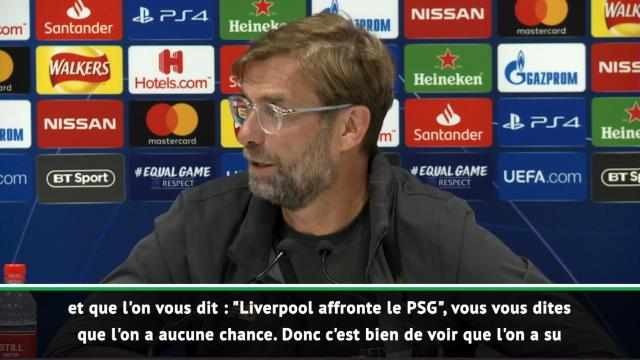 """Groupe C - Klopp : """"Il y a deux trois ans, personne n'aurait donné Liverpool vainqueur"""""""