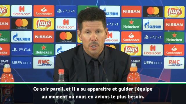 Simeone : «Griezmann a réalisé un grand match»