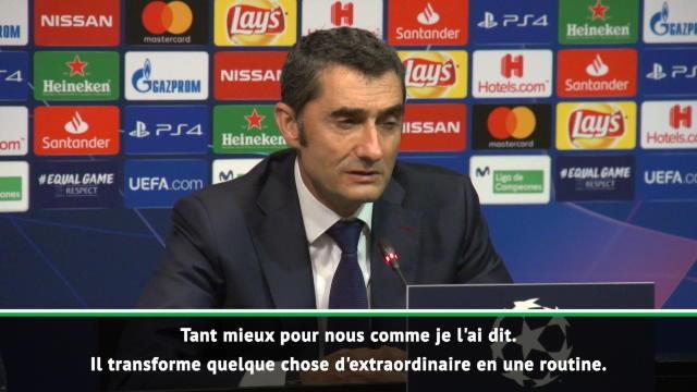 "Groupe B - Valverde : ""Une routine pour Messi"""