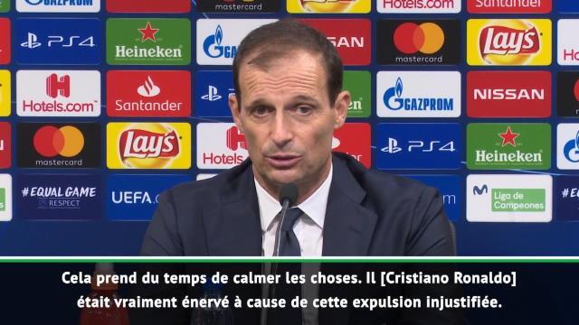 """Ronaldo expulsé ? Allegri : """"Une décision injustifiée"""""""