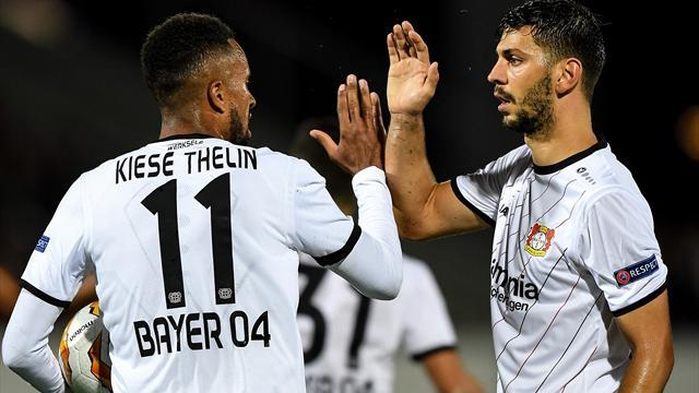 Höjdpunkter: Kiese Thelin målskytt när Leverkusen vände och vann