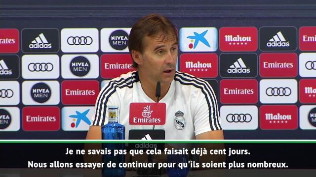 """Real Madrid - Lopetegui : """"Déjà cent jours ? Tout va tellement vite"""""""