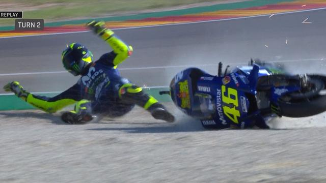 La chute de Rossi, symbole de la déconfiture des Yamaha