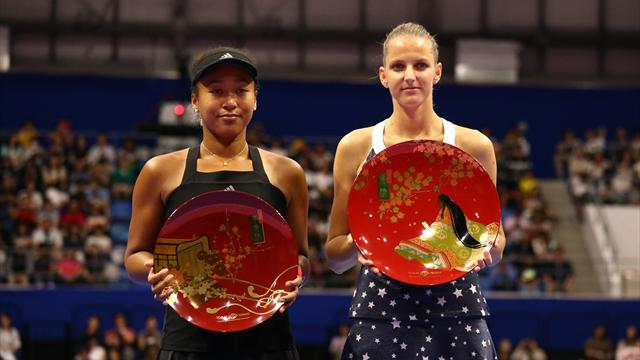 Pliskova upsets Osaka to win Tokyo final