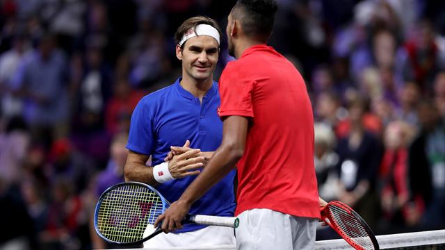 """Federer verteidigt Kyrgios: """"Er hat einen Stuhl verletzt? Das reicht mir nicht"""""""
