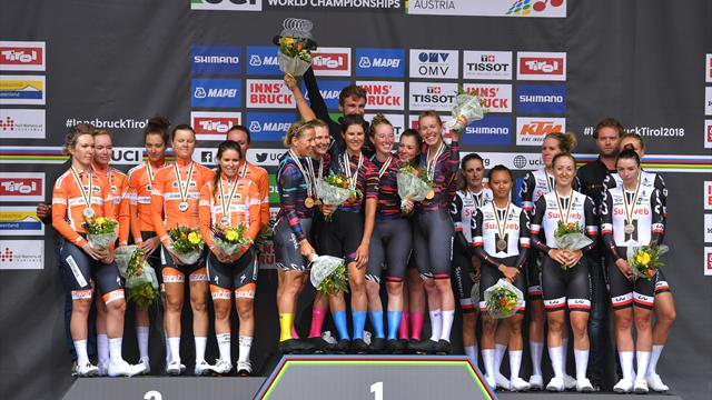 Canyon-SRAM take women's TTT title from Sunweb at World Champs