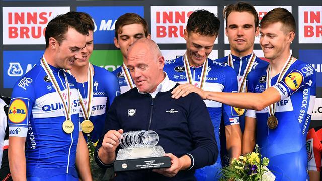Quick-Step Floors dominate to claim men's TTT title in Innsbruck