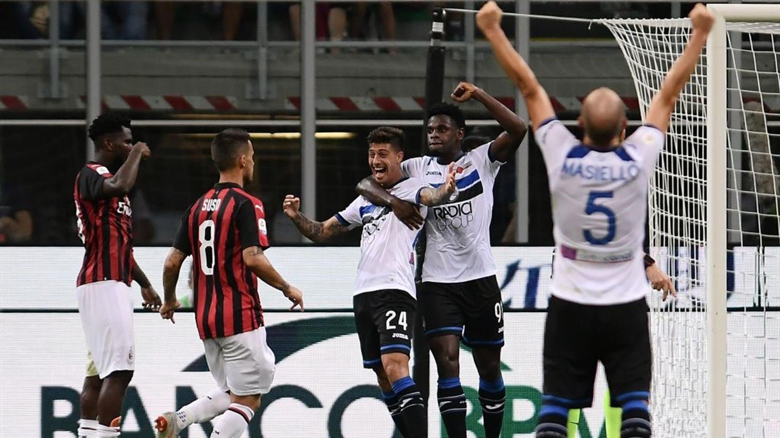 Atalanta-Milan: probabili formazioni e statistiche