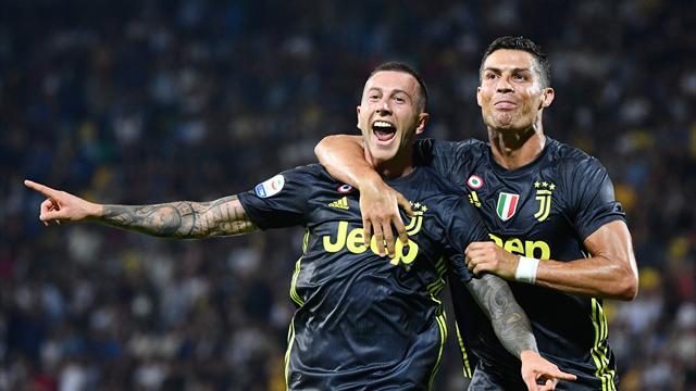 Le formazioni ufficiali di Juventus-Milan: c'è Bernardeschi dietro a Ronaldo e Higuain