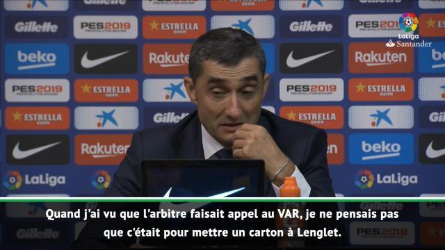 Barça - Valverde n'a pas compris l'expulsion de Lenglet