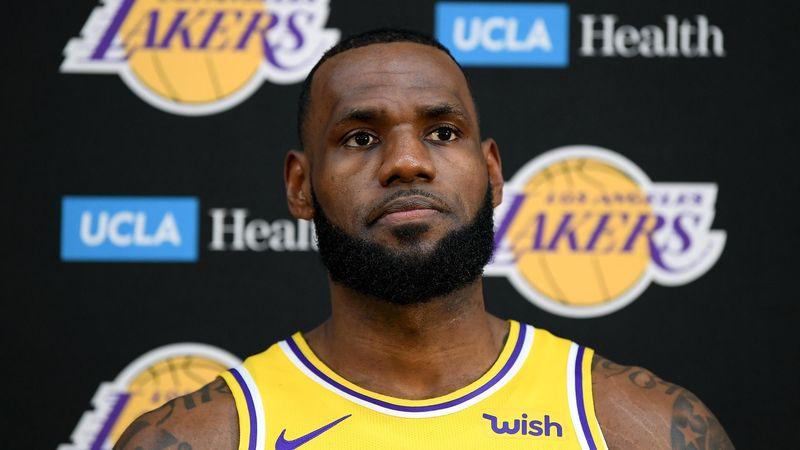 LeBron James (Los Angeles Lakers) le 24 septembre 2018 à El Segundo