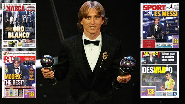 The Best 2018: No todas las portadas encumbran a Modric como el Mejor