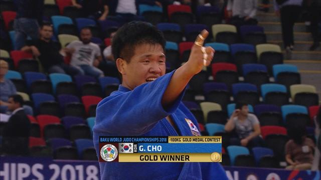 Cho Guham takes gold in 100kg