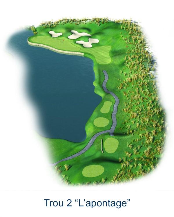 Le trou N°2 - L'Apontage (Crédit : Golf National)