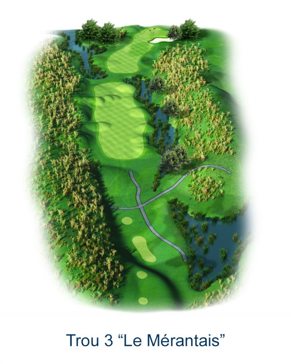 Le trou N°3 - Le Mérantais (Crédit : Golf National)