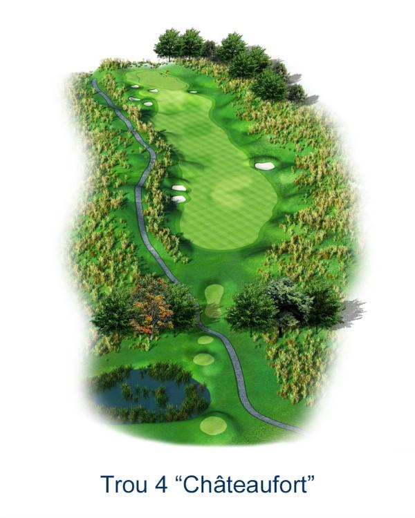 Le trou N°4 - Chateaufort (Crédit : Golf National)