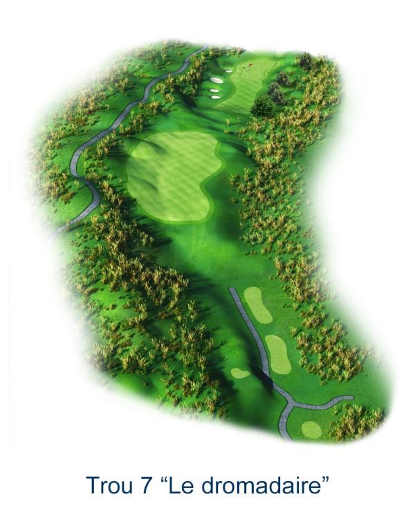 Le trou N°7 - Le Dromadaire (Crédit : Golf National)