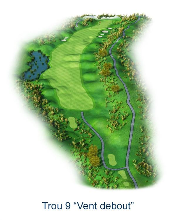 Le trou N°9 - Vent debout (Crédit : Golf National)